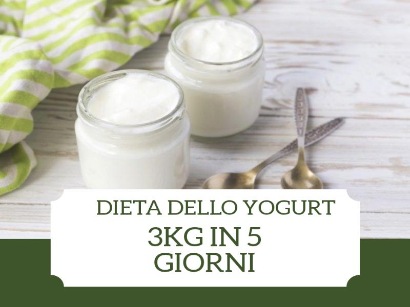 dieta dello yogurt 5 giorni